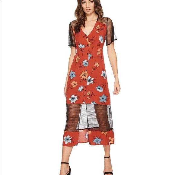 Womens Ornate Midi Dress Minkpink VB2l2xZ7